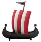 Viking Ship with Flag