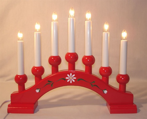 Swedish Candelabra Asa 7 Red